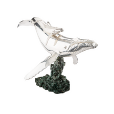 Humpback Whale Mother and Calf Silver Plated Sculpture | 2512 | D'Argenta