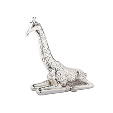 Giraffe Sitting Silver Plated Sculpture | 2523 | D'Argenta