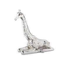 Giraffe Sitting Silver Plated Sculpture | 2523 | D'Argenta
