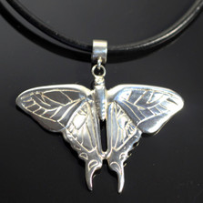 Butterfly Sterling Silver Pendant Necklace | Anisa Stewart Jewelry | ASJw1010