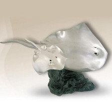 Sting Rays Silver Plated Sculpture | 2525 | D'Argenta