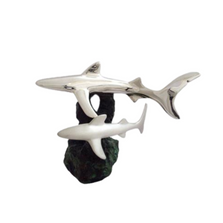 Two Sharks Silver Plated Sculpture | 2531 | D'Argenta
