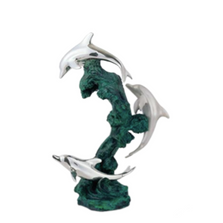 Dolphin Trio Silver Plated Sculpture | 5028 | D'Argenta