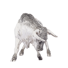 Silver Plated Bull Sculpture | 7500 | D'Argenta