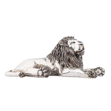 Resting Lion Silver Plated Sculpture | 7502 | D'Argenta
