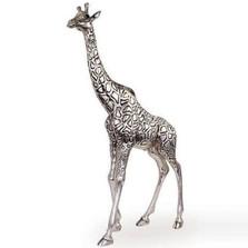 Giraffe Tall Silver Plated Sculpture | 7507 | D'Argenta