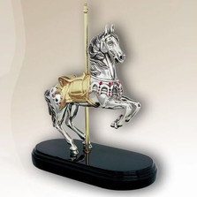 Carousel Horse Silver Plated Sculpture   | 7510 | D'Argenta