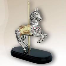 Carousel Horse Silver Plated Sculpture     7510   D'Argenta