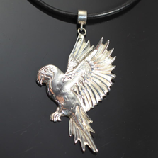 Macaw Sterling Silver Pendant Necklace | Anisa Stewart Jewelry | ASJw1013