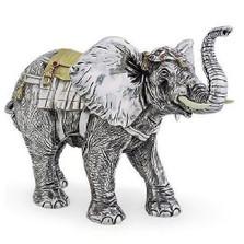 Silver Elephant Limited Edition Sculpture   7511   D'Argenta