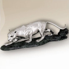 Silver Plated Small Panther Sculpture | 8008 | D'Argenta