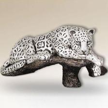 Jaguar on Branch Silver Plated Sculpture | 8018 | D'Argenta