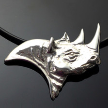 Rhino Sterling Silver Necklace | Anisa Stewart Jewelry | ASJw1017