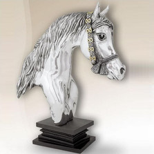 Silver Plated Horse Head Sculpture | 8030 | D'Argenta