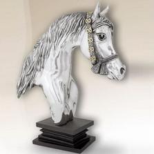 Silver Plated Horse Head Sculpture | 8030 | D'Argenta