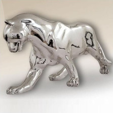 Silver Plated Panther Sculpture | 8037 | D'Argenta