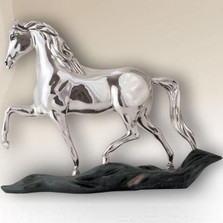 Silver Plated Prancing Horse Sculpture |  8038 | D'Argenta