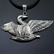 Loon Sterling Silver Pendant Necklace | Anisa Stewart Jewelry | ASJw1018