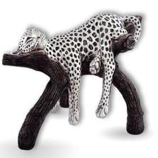 Silver Plated Leopard Sculpture | 8041 | D'Argenta