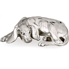 Silver Dog Sculpture  | A10 | D'Argenta