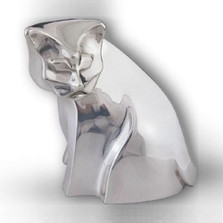 Silver Plated Contemporary Cat Sculpture | A49 | D'Argenta