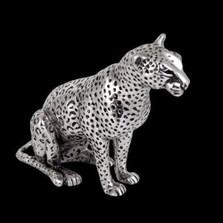 Leopard Silver Plated Sculpture | A500 | D'Argenta