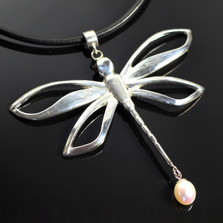 Dragonfly Sterling Silver Necklace | Anisa Stewart Jewelry | ASJw1021