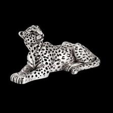 Silver Leopard Sculpture | A503 | D'Argenta