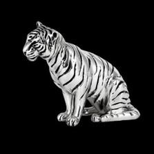 Silver Tiger Sculpture | A505 | D'Argenta