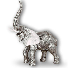 Silver Elephant Sculpture | A53 | D'Argenta