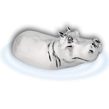 Silver Hippo Sculpture   A66   D'Argenta