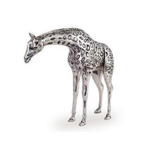 Silver Giraffe Sculpture | A70 | D'Argenta