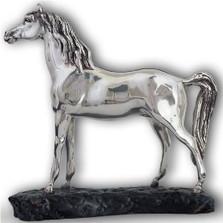 Silver Arabian Horse Sculpture | A71 | D'Argenta