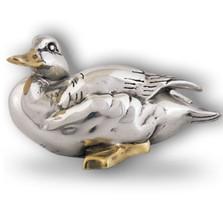 Silver Goose Sculpture Silver Accents   A8   D'Argenta