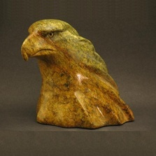 Eagle Bust Stone Sculpture | Douglas Creek | 2000
