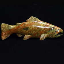 Swimming Fish Stone Sculpture | Douglas Creek | 2400