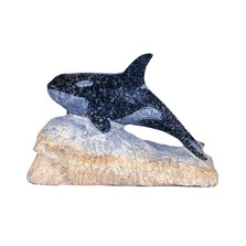 Orca Whale with Base Stone Sculpture | Douglas Creek | 3600