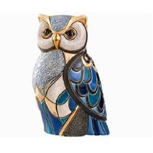 Blue Owl Ceramic Figurine | De Rosa | Rinconada | 1018
