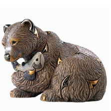 Grizzly Bear Ceramic Figurine | De Rosa | Rinconada | DER1023
