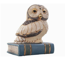Owl on Book Ceramic Figurine | De Rosa | Rinconada | DER1024