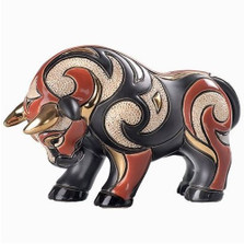 Bull Ceramic Red Figurine | De Rosa | Rinconada | DER1028R