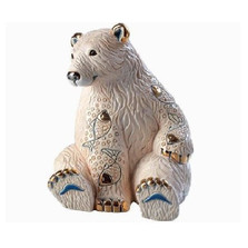 Polar Bear with Fish Ceramic Figurine | De Rosa | Rinconada | DER1032