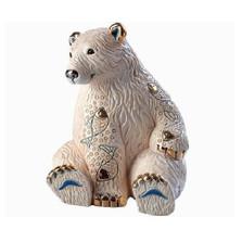 Polar Bear with Fish Ceramic Figurine | De Rosa | Rinconada | DER1032