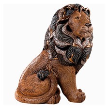 Majestic Lion Ceramic Figurine | De Rosa | Rinconada | DER460