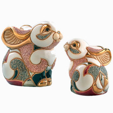 Rabbit and Baby Ceramic Figurine Set | De Rosa | Rinconada | F134-F334