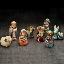 Ceramic Nativity Figurine 8 Piece Set | De Rosa | Rinconada | nativity8pc