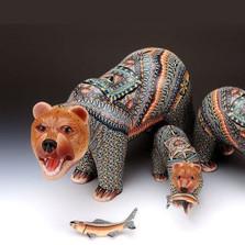 Grizzly Bear Papa Figurine | FimoCreations | FCFGBP -3