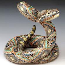 Rattlesnake Jumbo Figurine | FimoCreations | FCFRSJ
