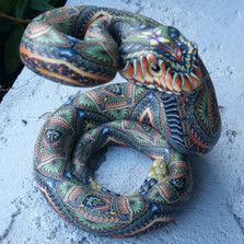 Rattlesnake Mama Figurine | FimoCreations | FCFRSM