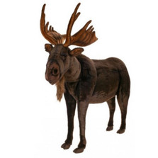 Moose Ride-On Plush Animal Statue | Hansa Toys | HTU3677